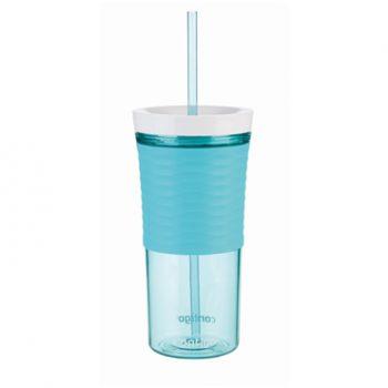 Contigo Bicchiere Shaker con Cannuccia Azzurra