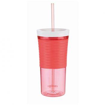 Contigo Bicchiere Shaker con Cannuccia Rossa