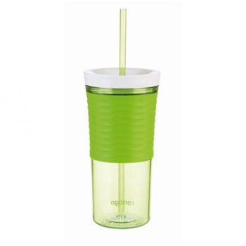 Contigo Bicchiere Shaker con Cannuccia Verde