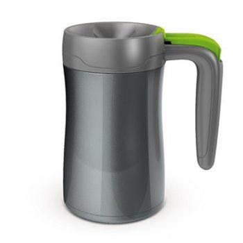 Contigo Tazza Isotermica Fulton Colore Antracite con Tasto Verde