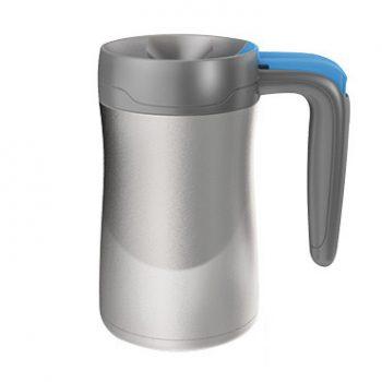 Contigo Tazza Isotermica Fulton Colore Silver con Tasto Blu