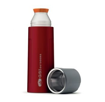 Thermos in Acciaio Rosso 1 L Camping GSI Outdoors