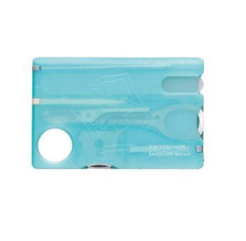 Coltellino Multiuso Victorinox SwissCard Nailcare Azzurra