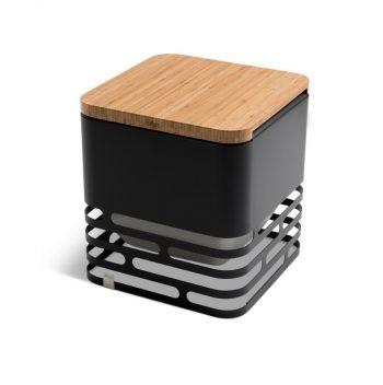 Barbecue Braciere Coperchio in Bamboo Cube