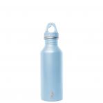 Bottiglia In Acciaio Inox Azzurro Ice Bocca Stretta Parete Singola Mizu 500-750Ml