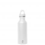Bottiglia In Acciaio Inox Bianca Bocca Stretta Parete Singola Mizu