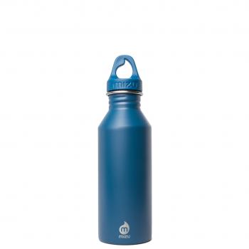 Bottiglia In Acciaio Inox Blu Oceano Bocca Stretta Parete Singola Mizu