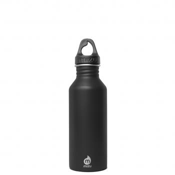 Bottiglia In Acciaio Inox Nera Bocca Stretta Parete Singola Mizu