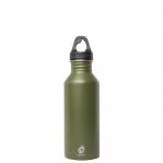 Bottiglia In Acciaio Inox Verde Army Bocca Stretta Parete Singola Mizu