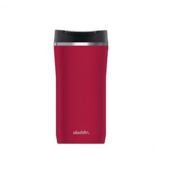 Tazza Termica Rossa Tappo Leak Lock Caffè Mug Aladdin Lt 0.35