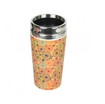 Tazza Thermos 500 ml Bicicletta Take Away Bamboo Woodway