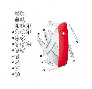 Coltellino Multiuso Tascabile Swiza D09 RED