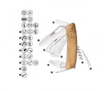 Coltellino Multiuso Tascabile Swiza SH09 R-HTT WOOD OAK