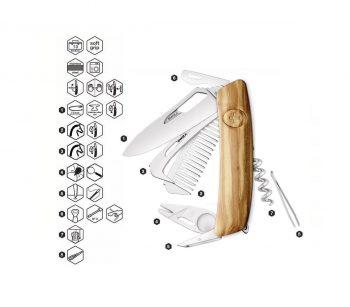 Coltellino Multiuso Tascabile Swiza SH09 R-HTT WOOD OLIVE