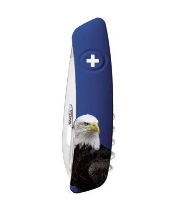 Coltellino Multiuso Tascabile Swiza TICK TOOL WILDLIFE EAGLE DARK BLUE