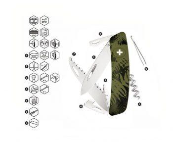 Coltellino Multiuso Tascabile Swiza C05 CAMOUFLAGE OLIVE FERN
