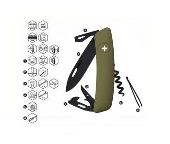 Coltellino Multiuso Tascabile Swiza D03 ALLBLACK OLIVE