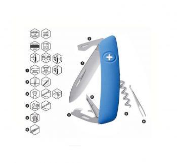 Coltellino Multiuso Tascabile Swiza D03 ALLMATT BLUE