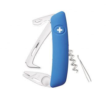 Coltellino Multiuso Tascabile Swiza HO03 HORSE & TICK TOOL BLUE