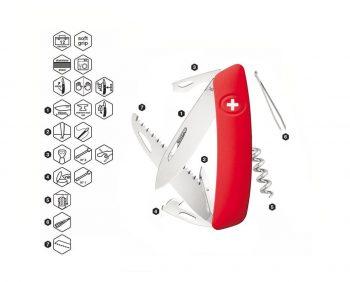 Coltellino Multiuso Tascabile Swiza D05 RED
