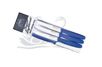 Coltello da Tavola Lama Dentata 6pz Blu Due Cigni