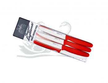 Coltello da Tavola Lama Liscia 6pz Rosso Due Cigni